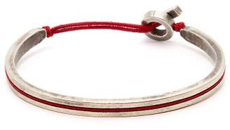 M. Cohen Sterling Silver And Cord Cuff - Mens - Red