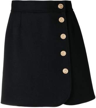 RED Valentino RED (V) buttoned A-line skirt