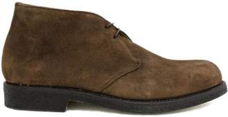 Tobacco Suede Ankle Boot.