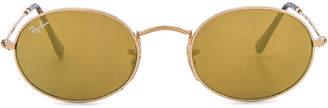 Ray-Ban Oval Flat Sunglasses