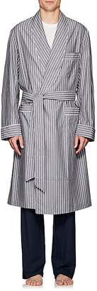 Barneys New York Men's Striped End-On-End Cotton Robe