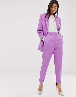 Asos Design DESIGN dream tapered suit trousers in lilac