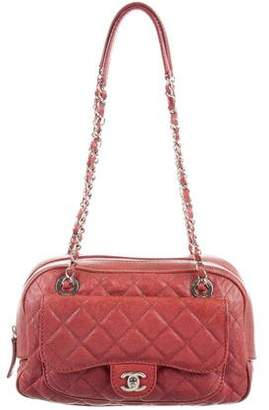 Chanel Quilted Caviar Camera Bag
