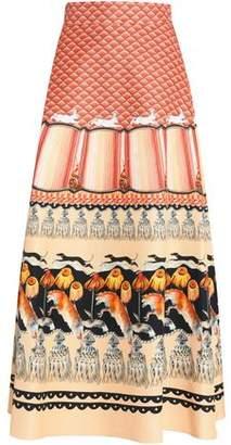 Temperley London Printed Cotton-Blend Maxi Skirt