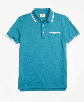 Brooks Brothers Slub Cotton Jersey Polo Shirt