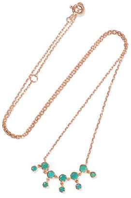 Pascale Monvoisin Lara N°1 9-karat Rose Gold And Turquoise Necklace