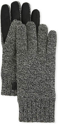 UGG Men's Knit Touchscreen Gloves with Conductive Leather Palm