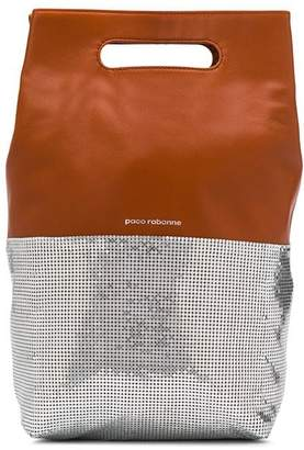 Paco Rabanne contrast tote