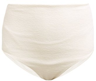 Mara Hoffman Lydia Riley Stripe High Rise Bikini Briefs - Womens - Ivory