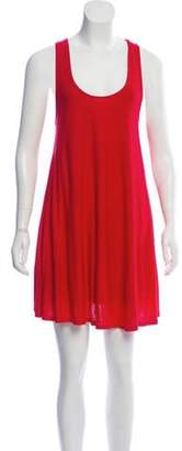 Alice + Olivia Sleeveless Draped Dress Red Sleeveless Draped Dress