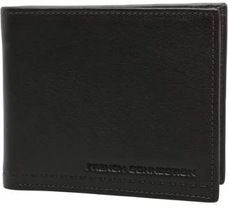French Connection Mens Stitch Emboss Wallet Brown