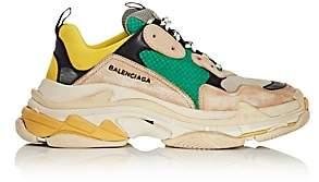 Balenciaga Men's Triple S Sneakers-Gray
