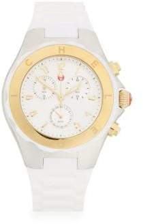 Michele Tahitian Jelly Bean Two-Tone Chronograph Watch