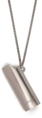 Ambush Silver Lighter Case Pendant Necklace - Mens - Silver
