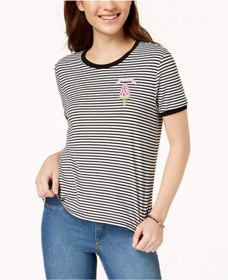 Pretty Rebellious Juniors' Chill Out Sweetie Striped Graphic T-Shirt