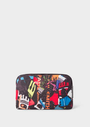 Paul Smith Men's 'Cycle Gloves' Print Canvas Wash Bag