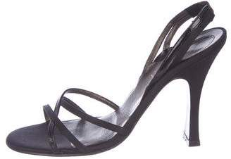 Gianni Versace Crossover Slingback Sandals
