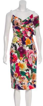 Cushnie Floral Print Dress Mauve Floral Print Dress