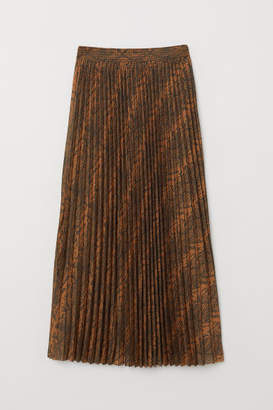 H&M Pleated Skirt - Beige