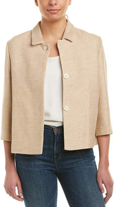 Maje Tweed Linen-Blend Jacket