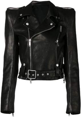Unravel Project lace-up biker jacket