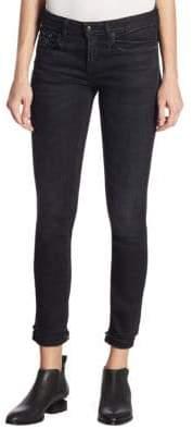R 13 Allison Frayed Hem Skinny Jeans
