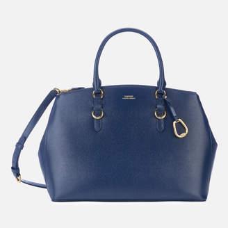 Lauren Ralph Lauren Women s Bennington Double Zip Medium Satchel Bag - Navy 0e24232e95