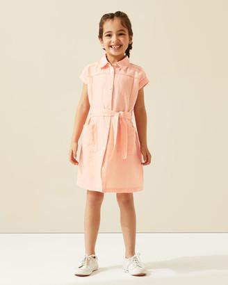 Jigsaw Linen Stitch Shirt Dress