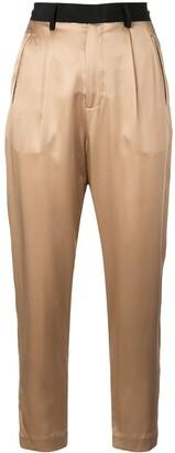 Fleur Du Mal cropped high-waisted trousers