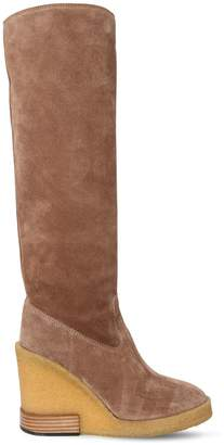 Tod's 85mm Suede Tall Boots