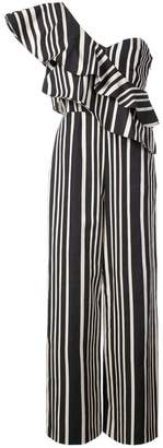 Alice + Olivia Alice+Olivia striped one shoulder jumpsuit