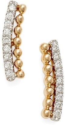 Women's Dana Rebecca Designs 'Poppy Rae' Diamond Ear Crawlers $605 thestylecure.com