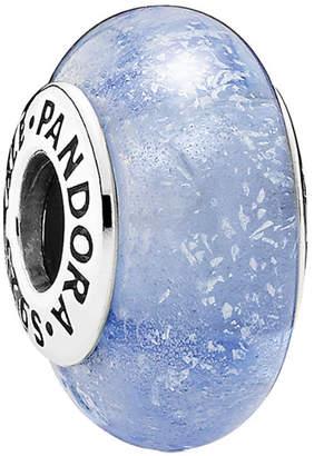 Pandora Disney Jewelry Collection Silver Cinderella's Signature Color Silver Murano Glass Charm