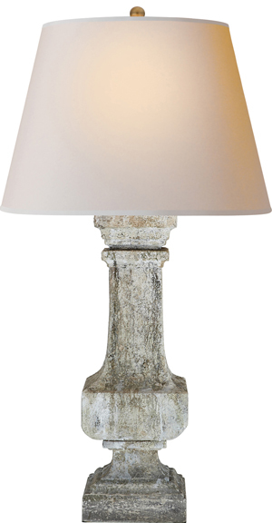 E.F. Chapman EXTRA LARGE GARDEN BALUSTRADE LAMP