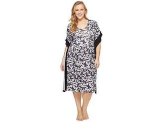 Donna Karan Plus Size Printed Caftan Women's Pajama