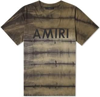 Amiri Tie Dye Logo tee