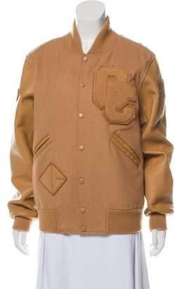 Opening Ceremony Leather-Trimmed Varsity Jacket