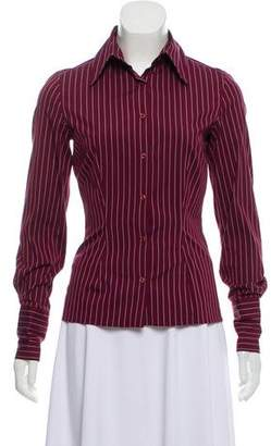 Thomas Pink Pinstripe Button-Up Top