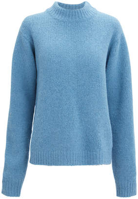 Tibi Blue Easy Pullover Sweater
