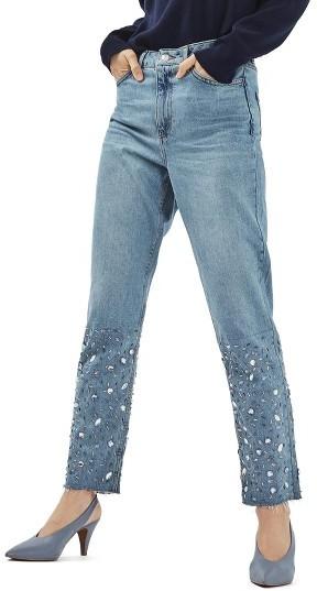 TopshopWomen's Topshop Gemstone Mom Jeans