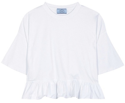prada Prada Cotton Crop Top