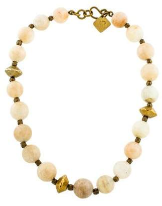 Ashley Pittman Sunstone Bead Necklace