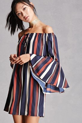 FOREVER 21+ Striped Off-the-Shoulder Dress $48 thestylecure.com
