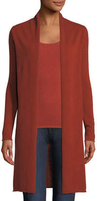 Neiman Marcus Cashmere Duster Cardigan, Plus Size