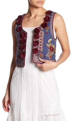 Love Sam Mutianyu Embroidered & Pompom Vest