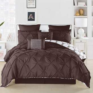 DUCK RIVER Esy Reversible Pintuck/Printed 8Pc Comforter Set