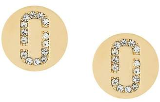 Marc Jacobs Double J Pave stud earrings
