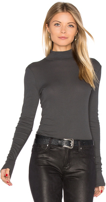 LA Made Sibel Mock Neck Tee $52 thestylecure.com