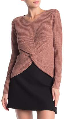 Poof Knot Front V-Neck Sweater