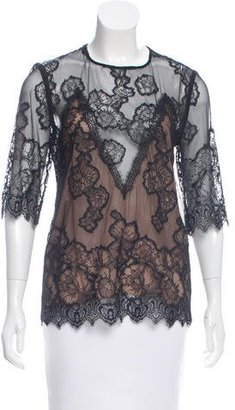 Sandro Lace & Mesh Top $75 thestylecure.com